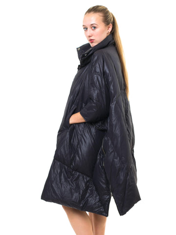 2000S HENRIK VIBSKOV Black Nylon Sleep Bag Coat