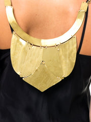 Matte Gold Powerful Egyptian Necklace/Vest