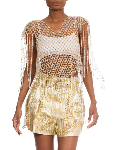 1960S Beads Beaded Fringe Jacket