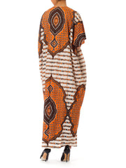 1970s Ethnic Medallion Oversized Caftan Dress