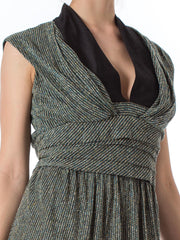 Balenciaga Knitted Mini Draped Dress