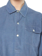 1940S Cotton Men's French Workwear Popover Shirt