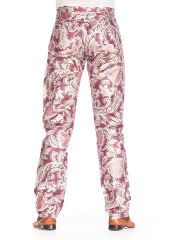 1990S Lurex Metallic Floral  Jeans Pants
