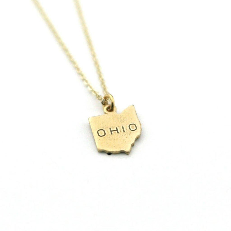 Stamped Ohio Necklace