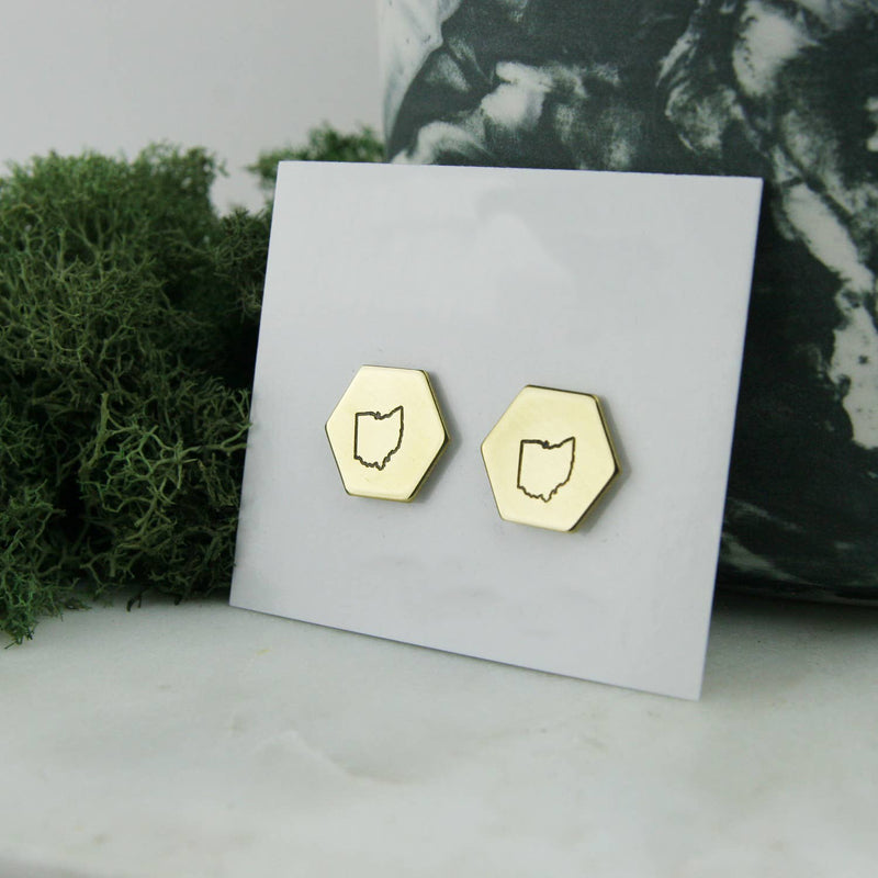 Hexagon Ohio Earrings