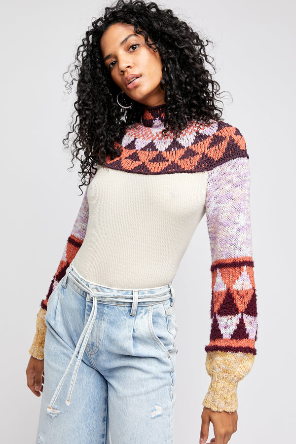 All the Right Angles Sweater