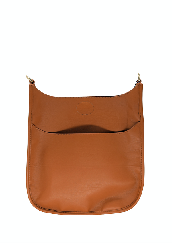Camel Vegan Leather Messenger