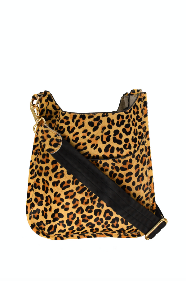 Leopard Leather Mini Messenger