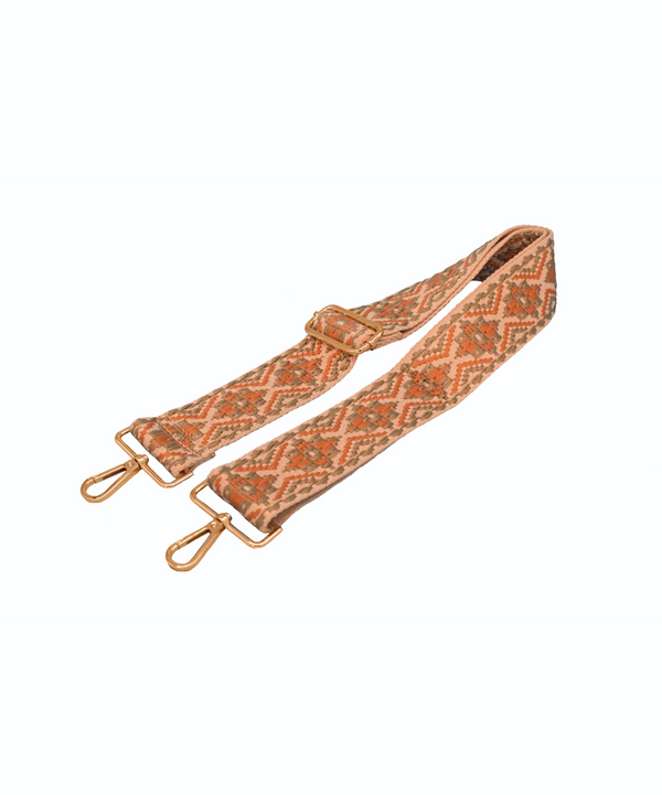 Green & Orange Embroidered Bag Strap