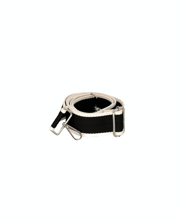 Black & White Thick Bag Strap