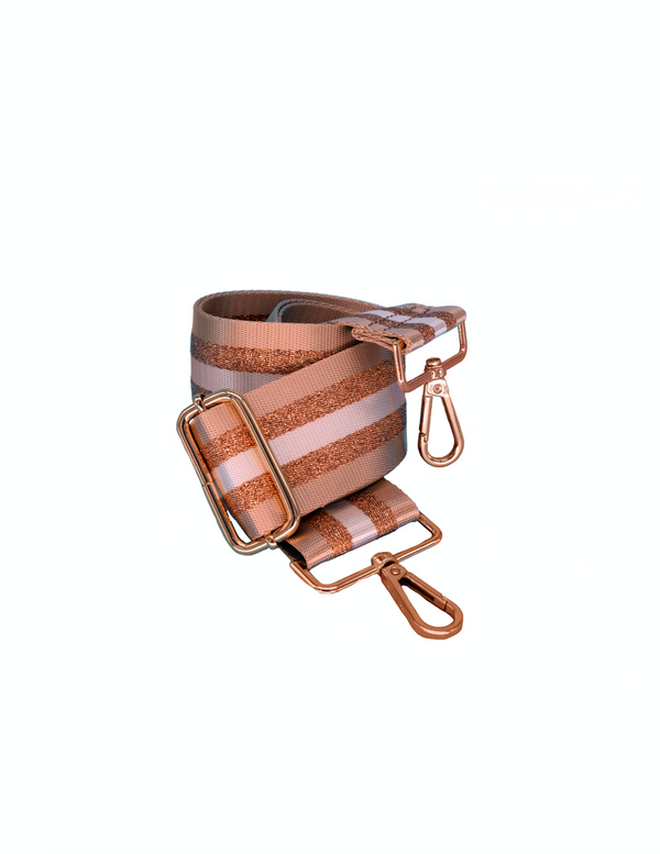Tan/Gold Stripe Bag Strap