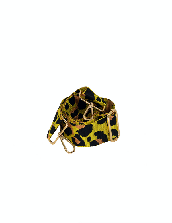 Yellow Camo Bag Strap