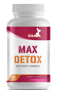This healthy blend of herbs and vitamins will help boost your body's natural ability to detox. The açaí berry will help with bloating as well as brain fog. Max Detox will truly detox body and mind.