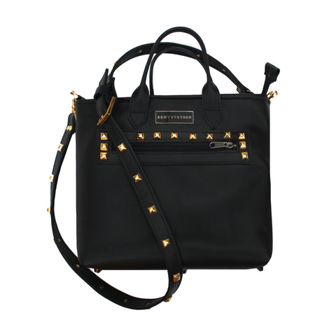 Small Studded Black Crossbody Tote