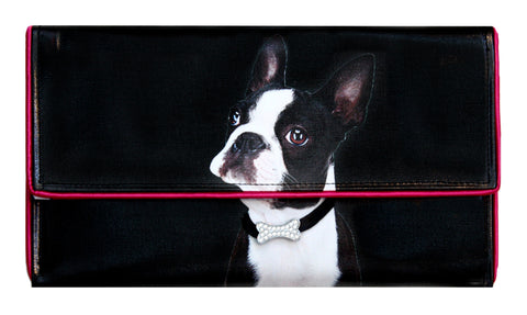 Boston Terrier Clutch