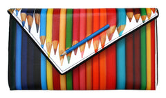 Colored Pencil Clutch