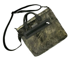 Crackle Textured Messenger Tote
