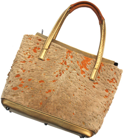 Cream Calf Hair Tote
