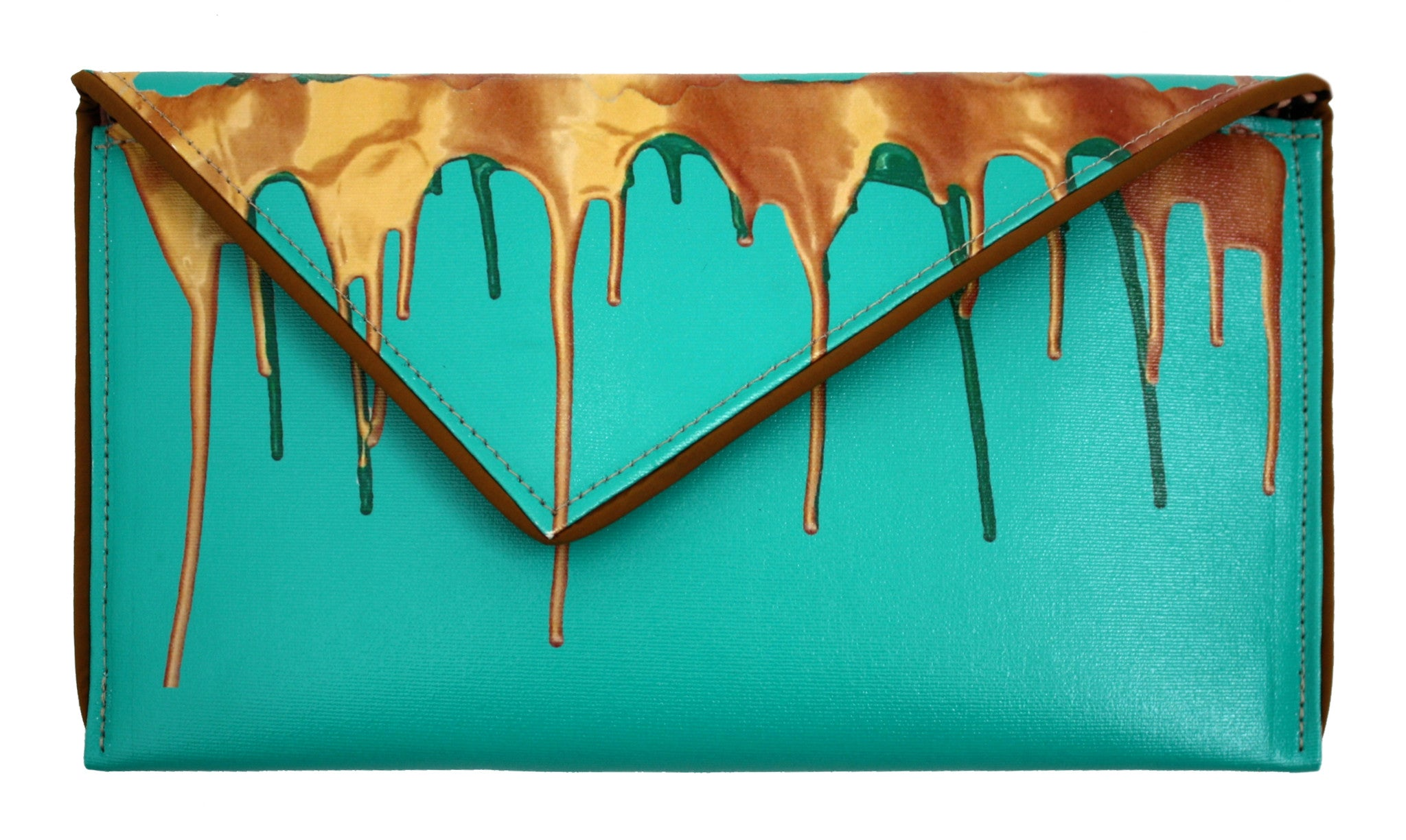 Dripping in Gold Clutch