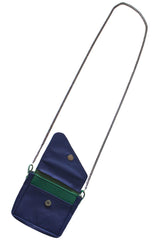 Navy & Green Crossbody Pouch