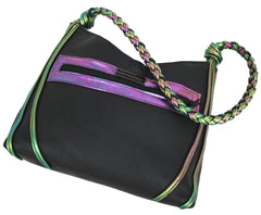 Holographic Braided Handle Hobo