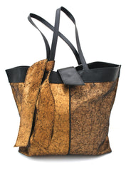 Crackle Metallic Tote