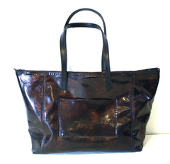 Deep Tortoise Medium Tote