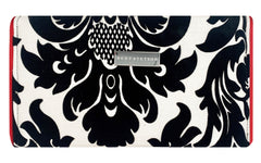 Velvet and Taffeta Damask Crossbody Clutch
