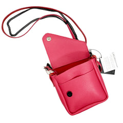 Pink & Red Colorblock Crossbody Pouch