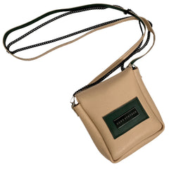 Sand and Forest Colorblock Crossbody Pouch