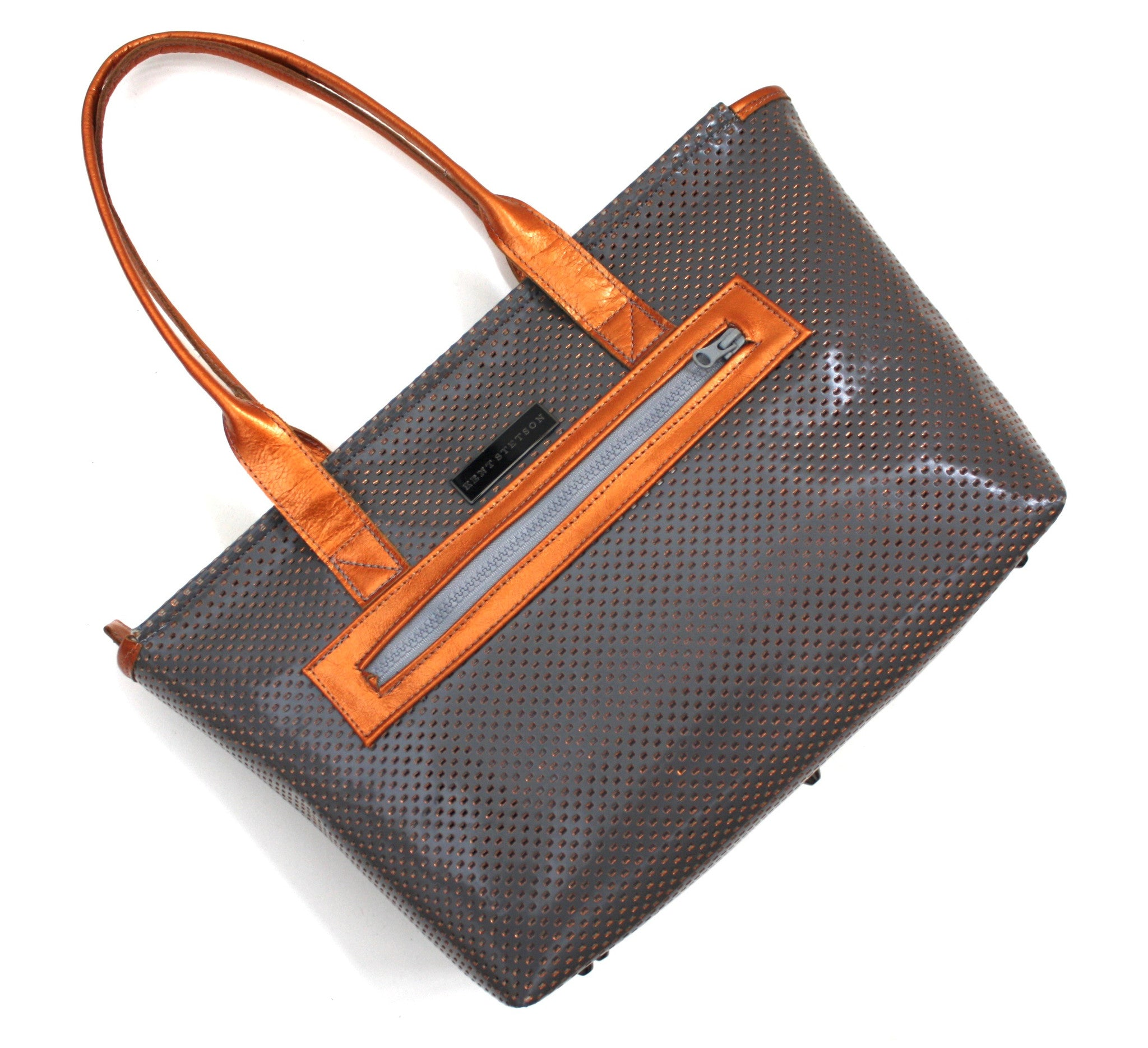 Steel & Copper Perforated Tote