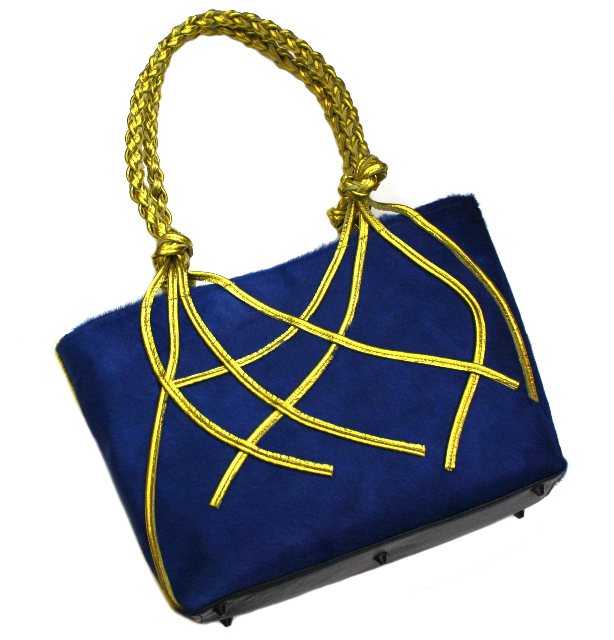 Color Block Braided Handle Tote