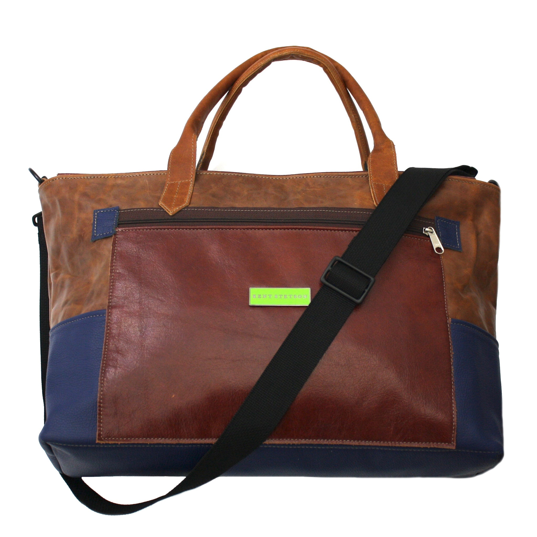 Large Unisex Color Block Carry-All