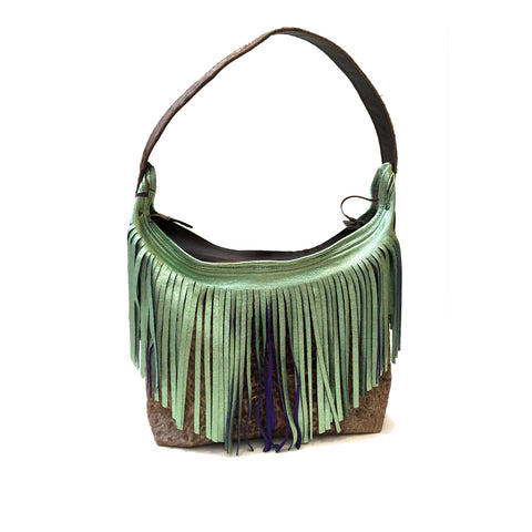 Two - Toned Fringe and Pony Hobo