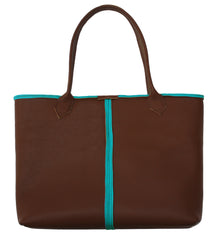 Brown Two-Tone Everyday Tote