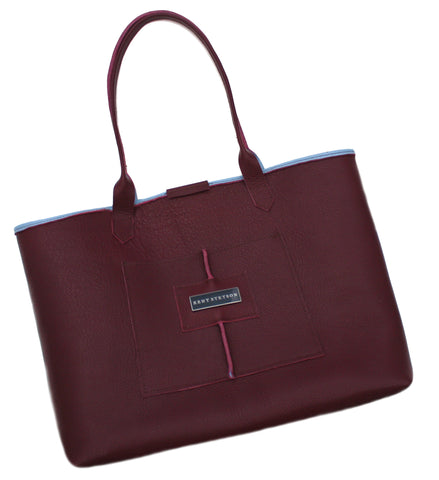 Mahogany & Cornflower Everyday Tote