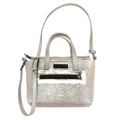 Mini Python Embossed Leather Tote