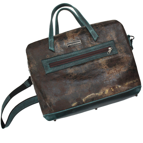 Brown Expandable Weekender Travel Tote