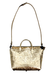 Gold Baroque Mini Crossbody Bag