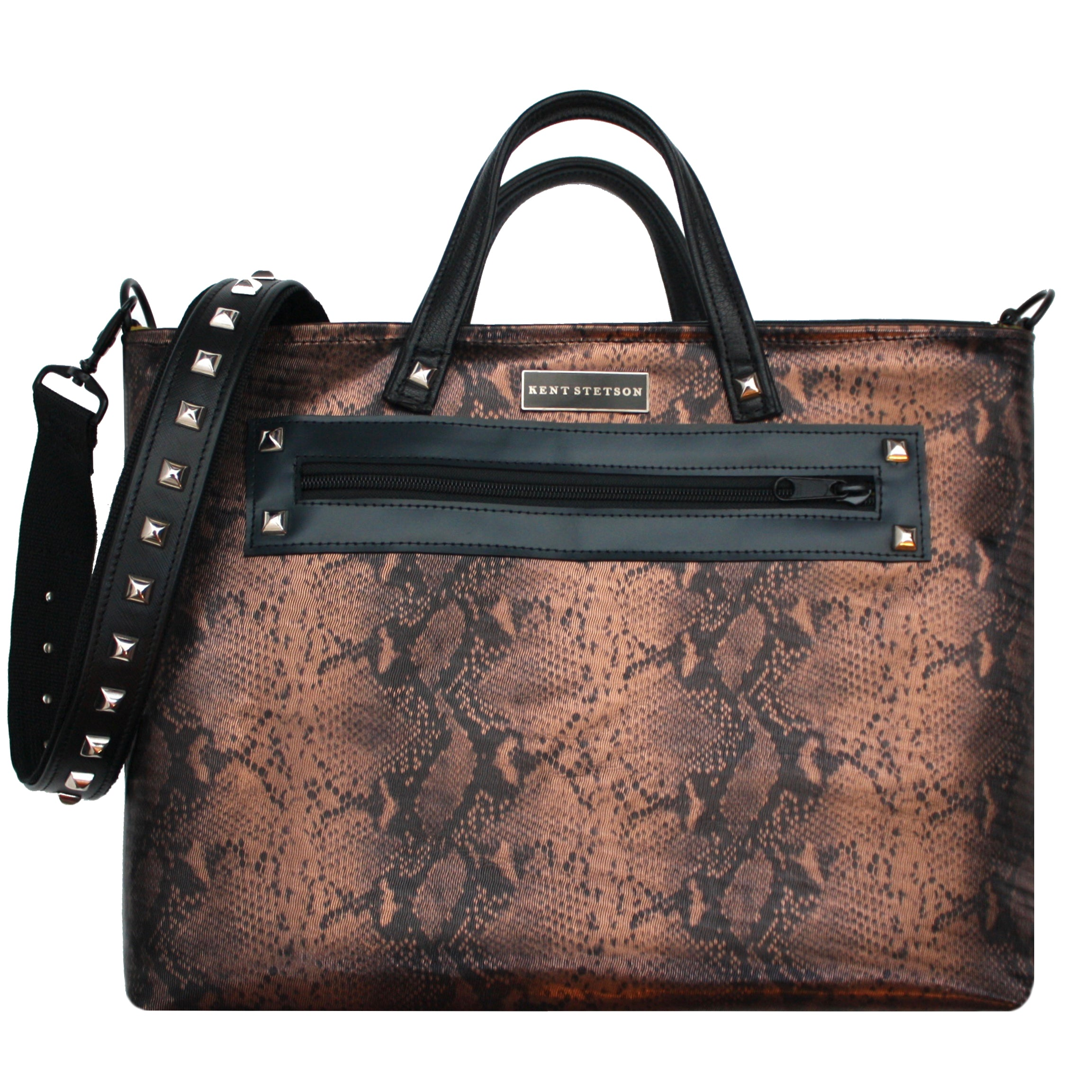 Copper Leather Unisex Tote