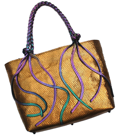 Mermaid Scale Braided Tote