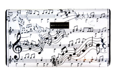 Music Notes Clutch