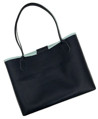 Navy & Aqua Everyday Tote