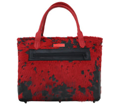 Red and Black Splatter Tote