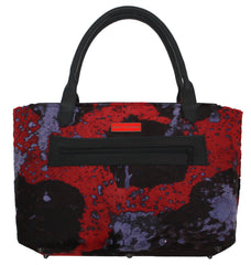 Red, Purple, & Black Splatter Tote