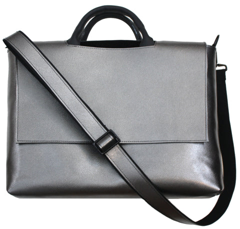 Silver Messenger Bag
