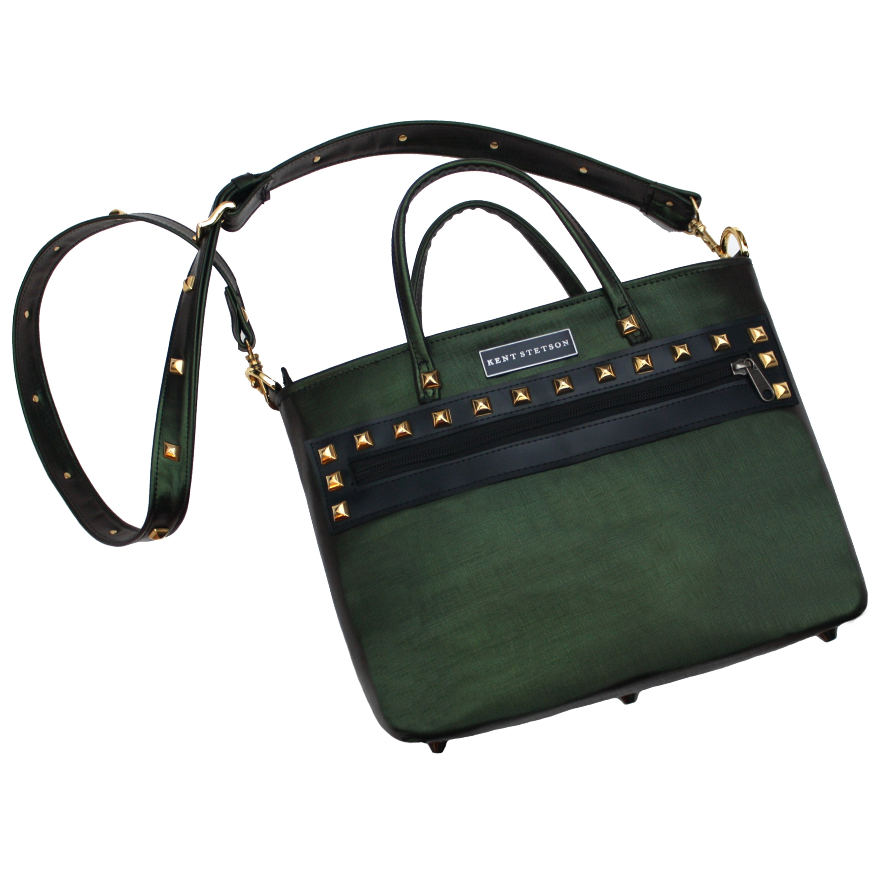 Small Studded Beetle Crossbody Tote