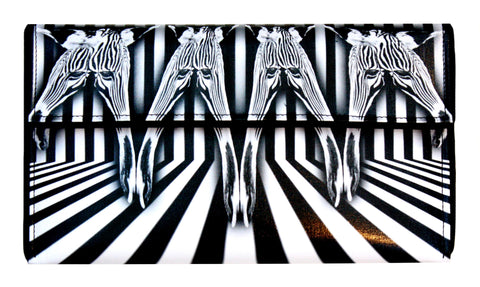 Surreal Zebra Clutch