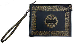 Celtic Knot Gusseted Wristlet