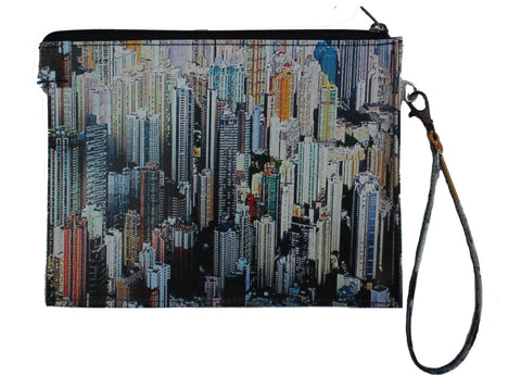 Skyscrapers Gusseted Wristlet